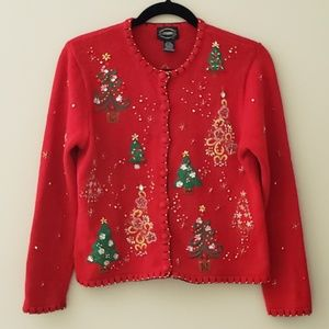 """""""Ugly"""" Christmas Sweater w/Beads and Embroidery"""